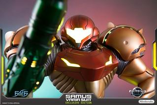 First 4 Figures《銀河戰士》莎姆斯‧亞蘭 能量裝甲(Samus Aran VARIA SUIT)全身雕像  一般版 / 豪華版
