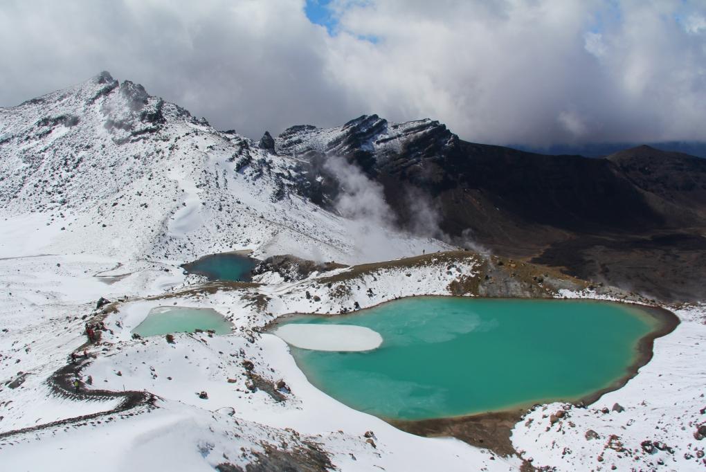 Тонгариро саммит - Красный кратер и Изумрудные озера