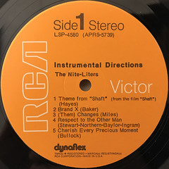 THE NITE-LITERS:INSTRUMENTAL DIRECTIONS(LABEL SIDE-A)