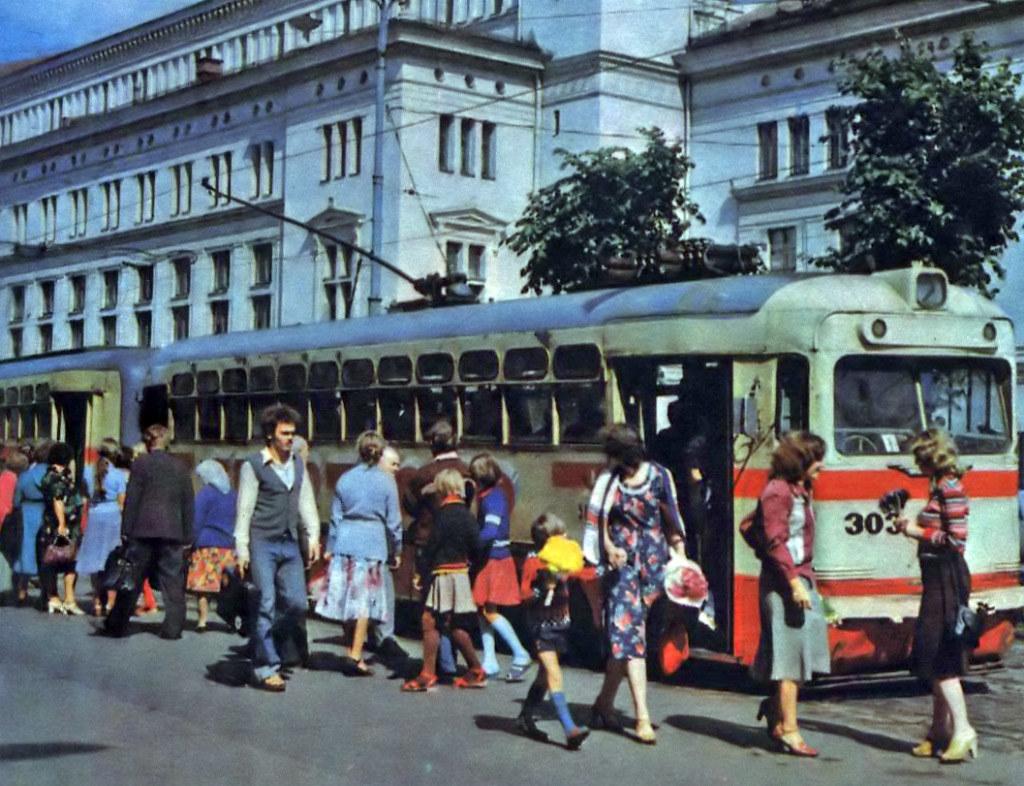 Tramway à Riga dans les années 1960.