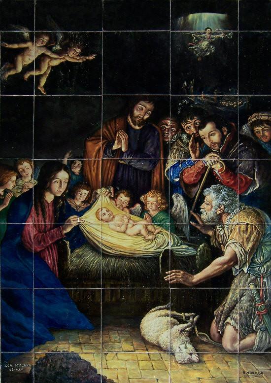 Cerámica con motivos navideños