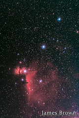 The Flame Nebula (NGC 2024), The Horsehead Nebula (Barnard 33) & IC 434