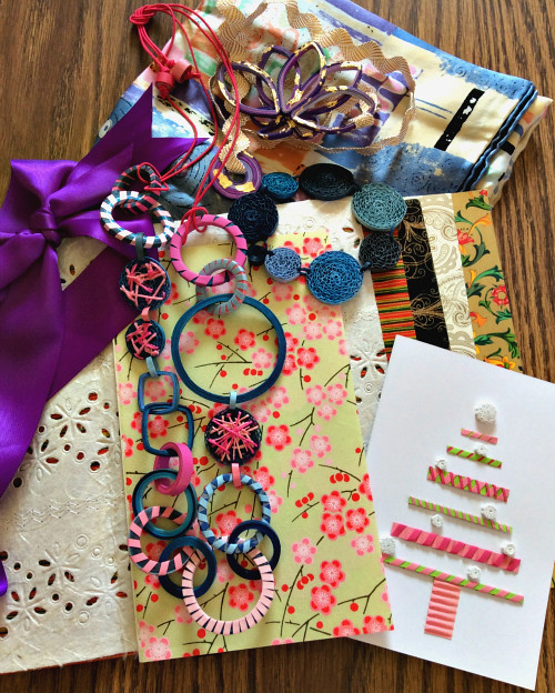 Paper Jewelry, Decorative Papers, and Quilled Card
