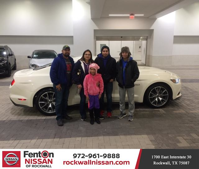 Fenton Nissan Of Rockwall >> Happy Anniversary To Elda On Your Ford Mustang From Erik
