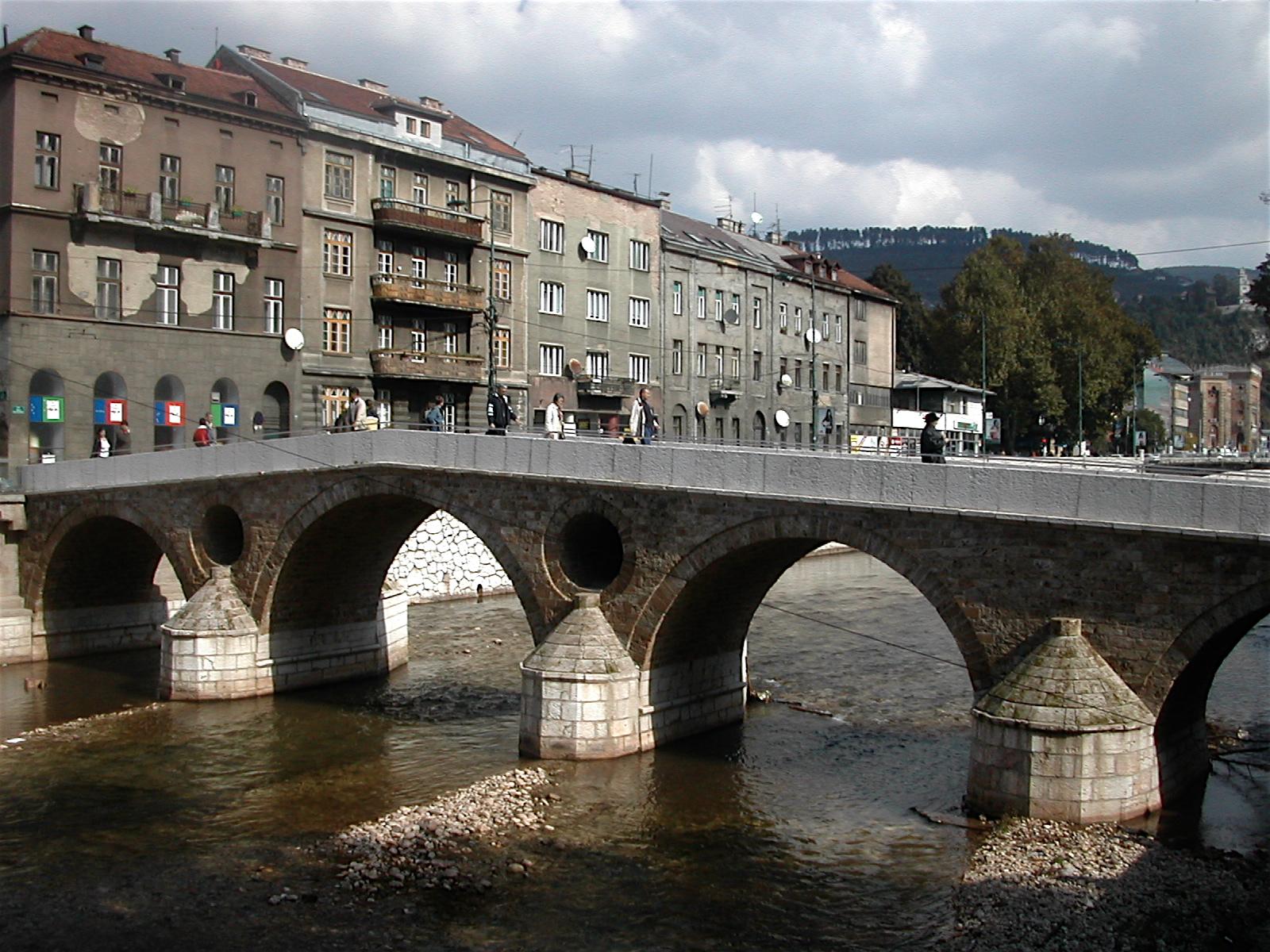 The Latin Bridge near the assassination site