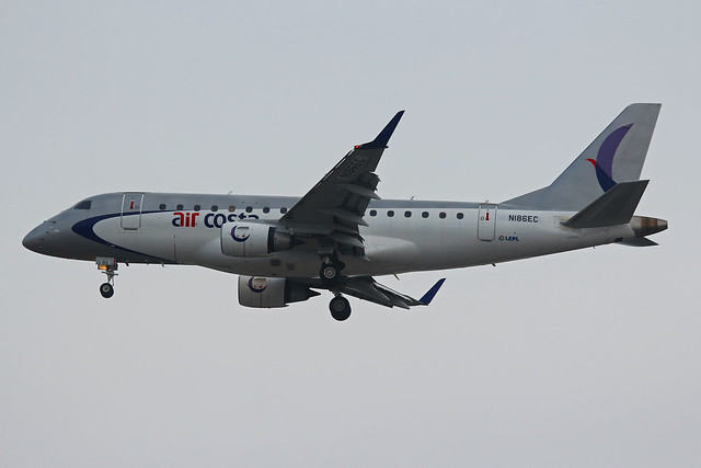 Embraer 170LR Air Costa N186EC GVA 21/12/2017
