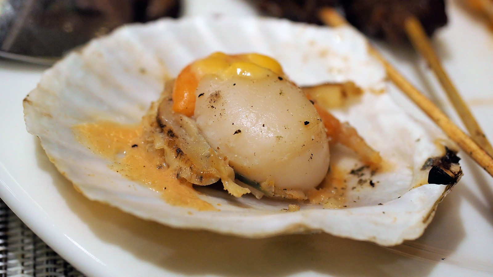 Yummy steamed scallop