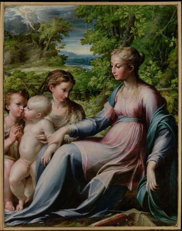 ParmigianinoVirginWithChildStJohnTheBaptistAndMaryMagdaleneAbout1530-1540