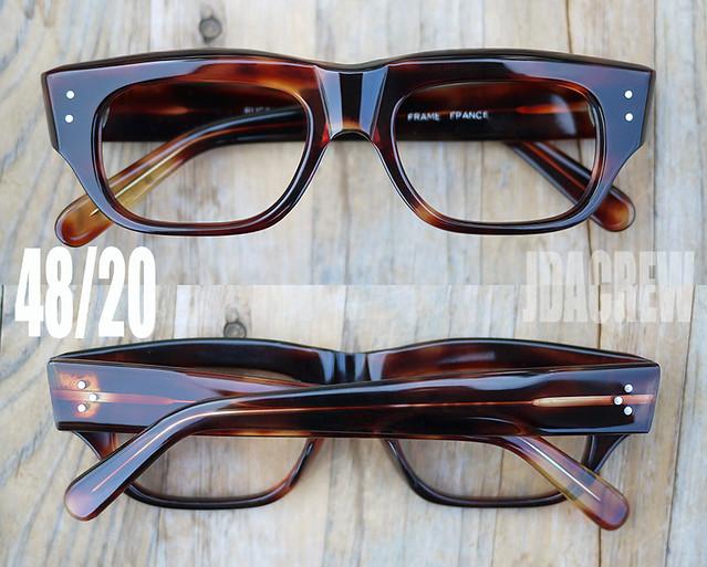 ヴィンテージフランス製メガネべっ甲アンバーJDACREW