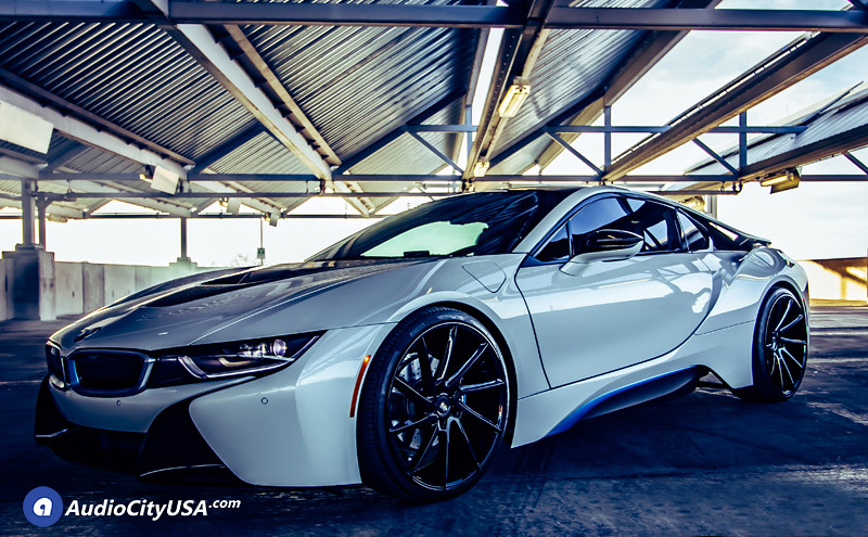 2016 BMW I8 On 22 Savini Wheels BM 15 Gloss Black True Directional By AudioCityUsa Flickr
