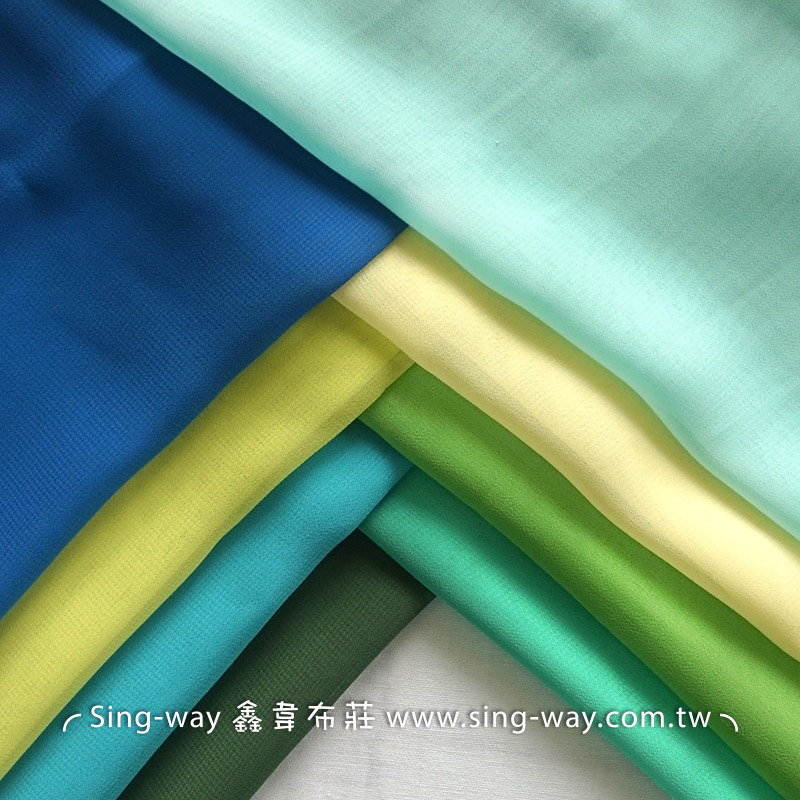 素面雪紡紗 裝飾服裝布料 IA290058 藍綠色系