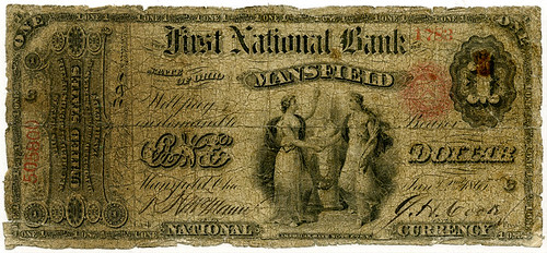Mansfield Ohio $10 First National Bank
