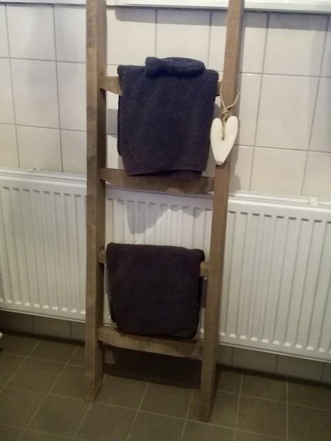 Decoratieladder badkamer