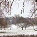 Snowy fields and Wollaton Hall