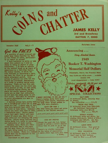 Kelly's Coins and Chatter December 1948 cover