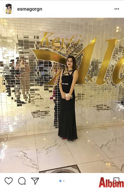 Esma Görgün, Keyf-i Ala Restoran'da katıldığı düğün töreninden bu fotoğrafı paylaştı.
