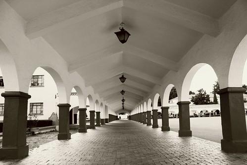 Arcos del Patio de Honor.   Universidad Autónoma de Chapingo...