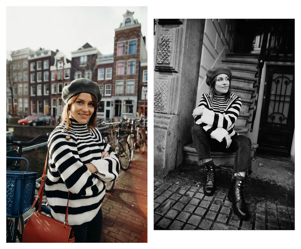The Little Magpie Black and White Striped jumper Zalando Amsterdam