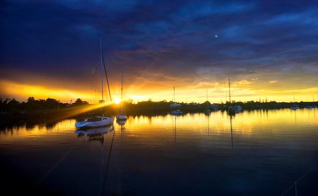 Yamba. Sunsets.