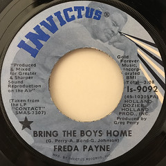 FREDA PAYNE:BRING THE BOYS HOME(LABEL SIDE-A)