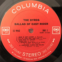 THE BYRDS:BALLAD OF EASY RIDER(LABEL SIDE-B)