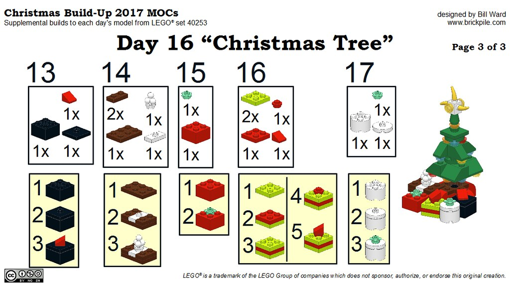 "Christmas Build-Up 2017 Day 16 MOC ""Christmas Tree"" Instructions p3"
