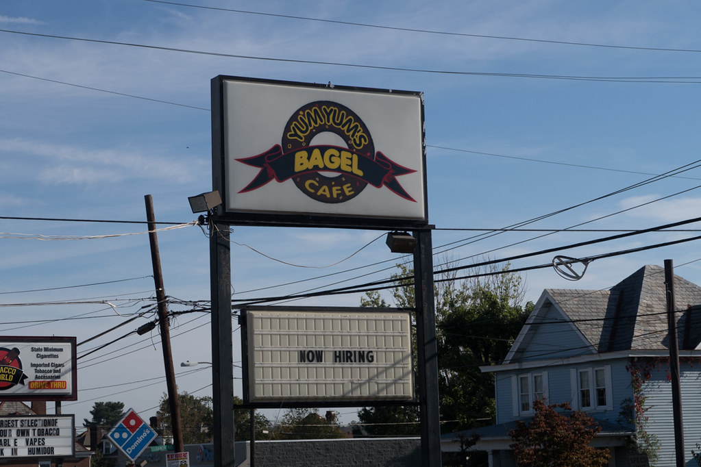 Exterior of Yum Yum Bagel Cafe