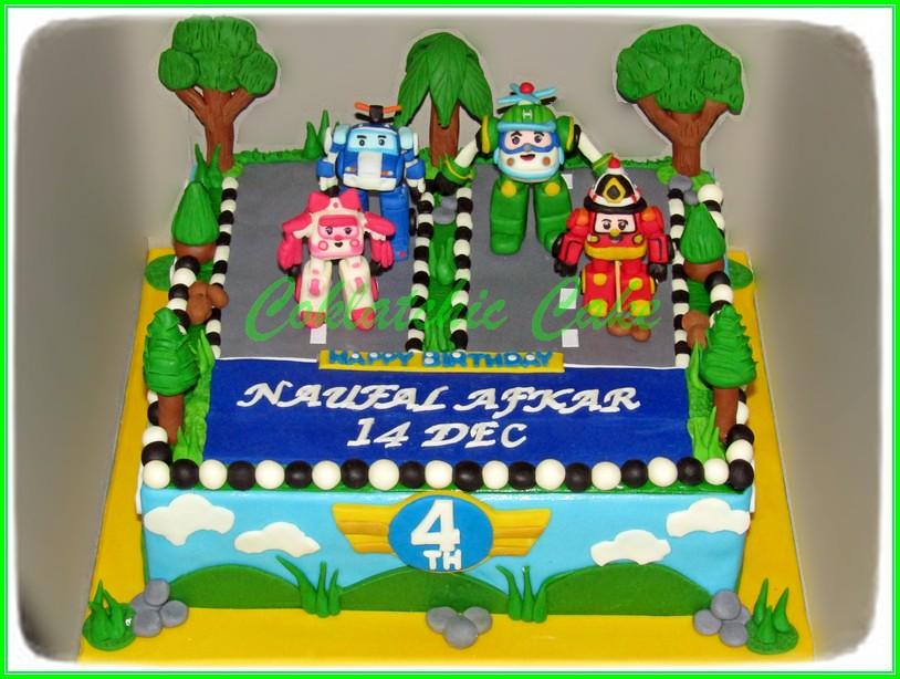 Cake Robocar Poli 30cm