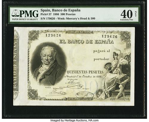 Spain Banco de Espana 500 Pesetas