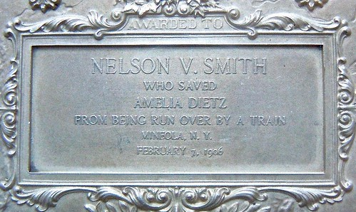 1906 Nelson Smith Carnegie Hero medal inscription