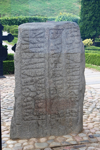 smaller and oldest of the Jelling Stones