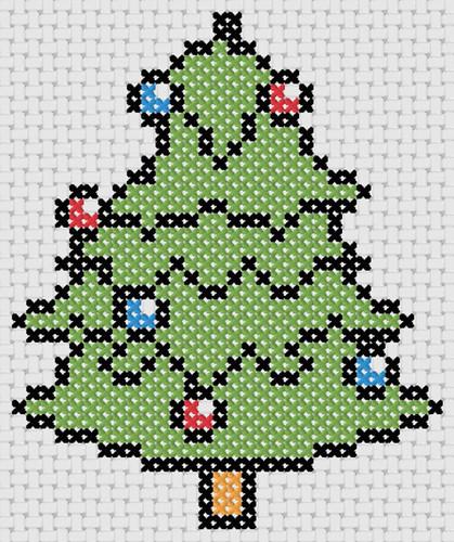 personalized cross stitch christmas stocking design christmas tree