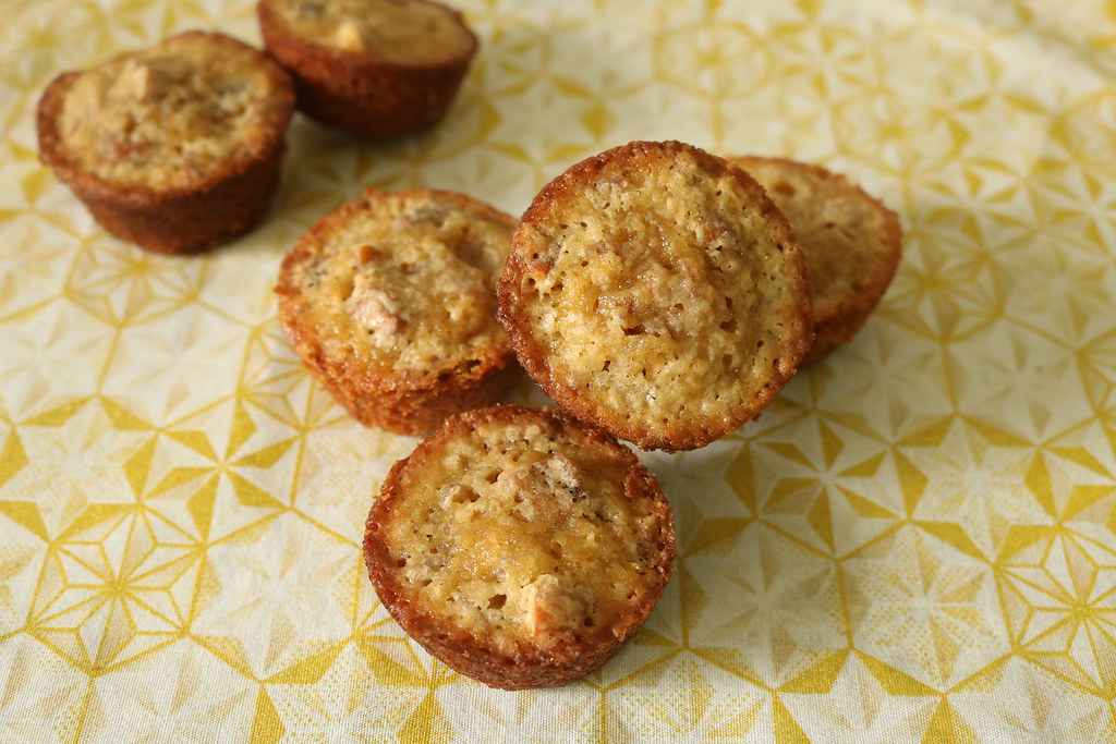 Mini-Muffins de Noz-Pecã