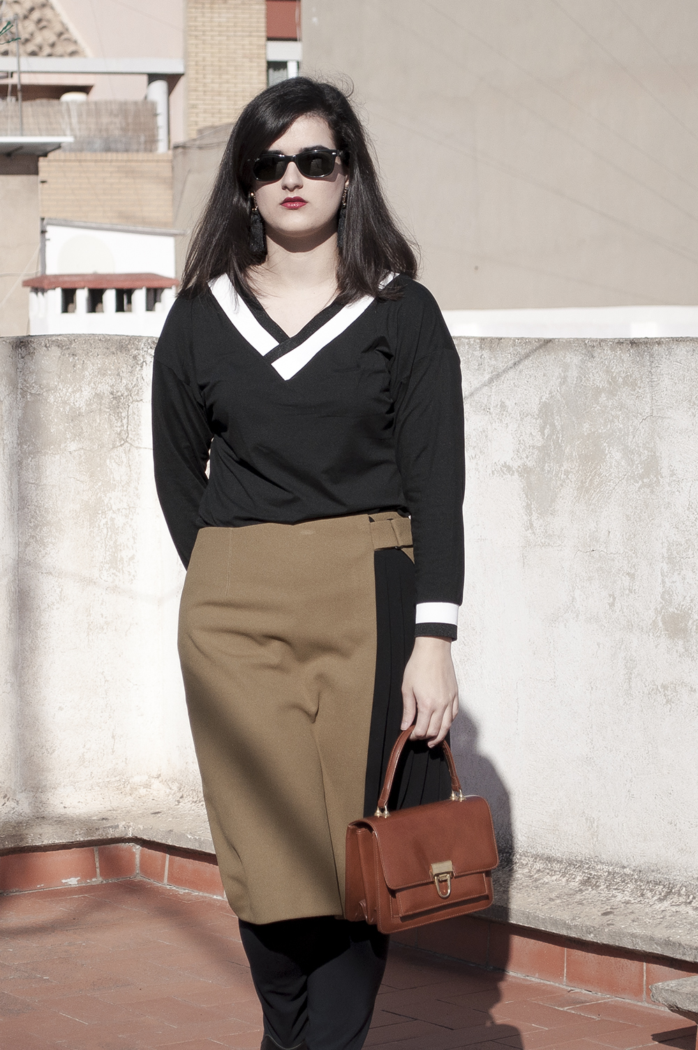 somethingfashion spain firenze italy valencia bloggers outfit shein collaboration blackwhite college sweater_0208