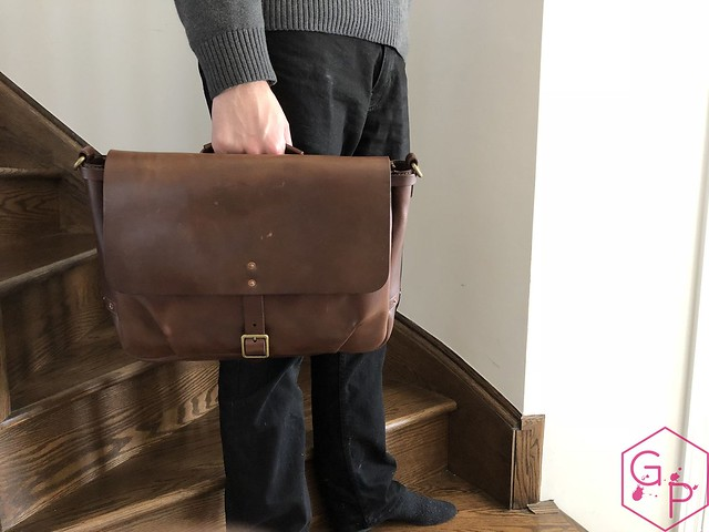 Review @SatchelandPage Brown Leather Slim Mailbag 2