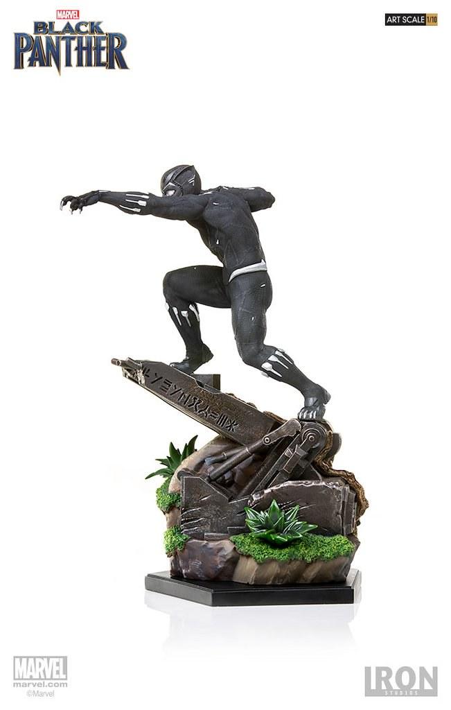 蓄勢待發的瓦干達帝王!! Iron Studios Battle Diorama 系列《黑豹》黑豹 Black Panther 1/10 比例決鬥場景雕像作品