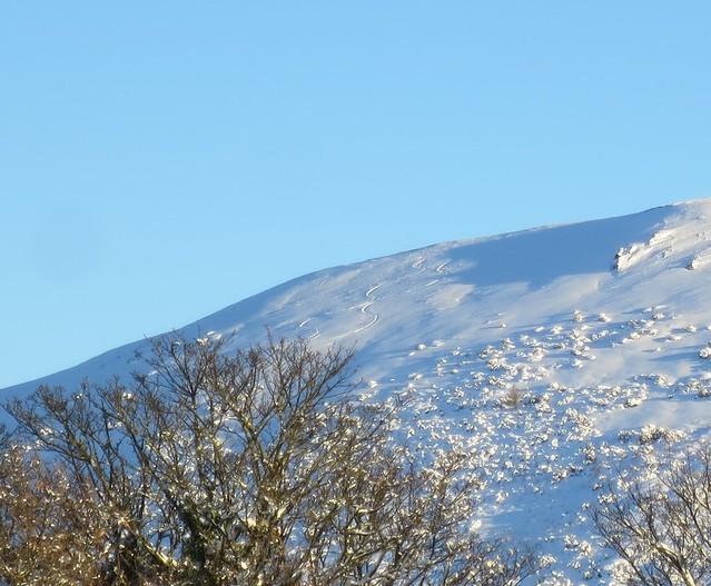 ^^ Our ski tracks on Little Caradoc
