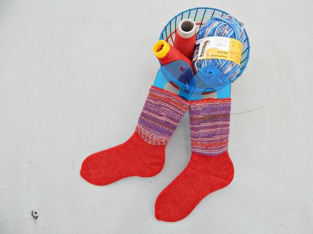 носки с пяткой углублённым бумерангом с клином | short row heel with gusset socks 4