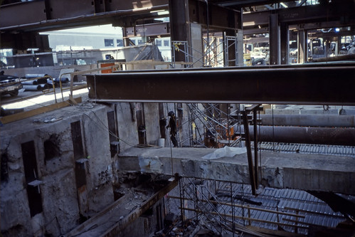 Construction connecting Zakim Bridge to Big Dig - Kodachrome - 2001 (1)