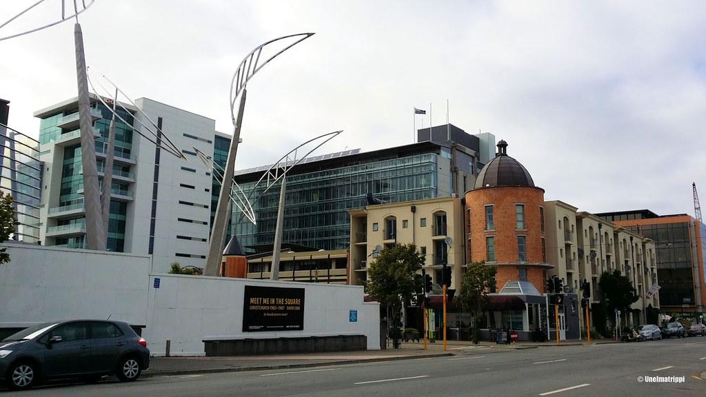 Christchurchin keskustaa, Uusi-Seelanti