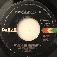 HAMILTON BOHANNON:DISCO STOMP(LABEL SIDE-B)
