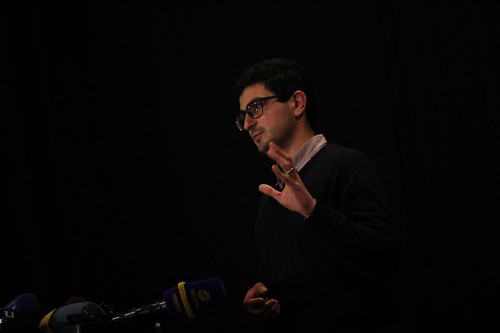 Լրագրող, ԵՊՀ ասպիրանտ Հարություն Ծատրյանը Ժուռնալիստների միության համագումարի ժամանակ