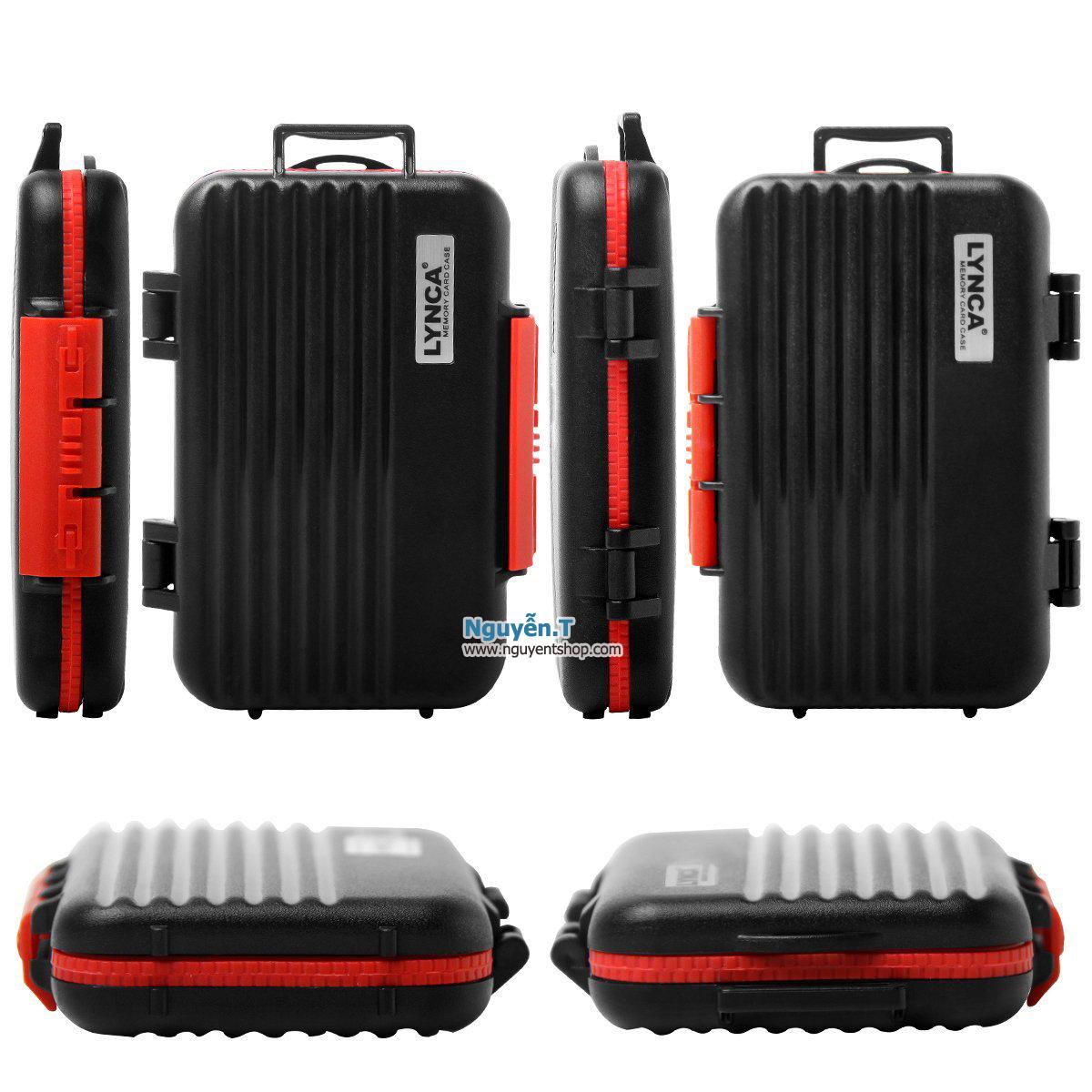 Hộp thẻ nhớ LYNCA KH6 chống nước 4CF +  8SD + 12micro SD_Classic black