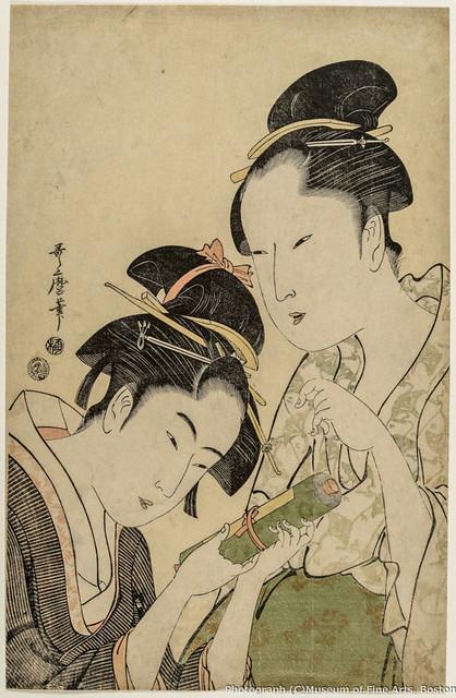 喜多川歌麿《お藤とおきた》(1793-94年) William Sturgis Bigelow Collection, 11.14282