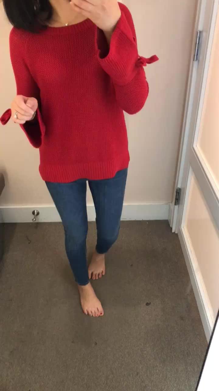 LOFT Tie Cuff Sweater, size XS regualr