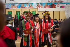 Graduates pose for a post-commencement photo at the campus' commencement ceremony on December 16, 2017.  Photo by Everette Ganir