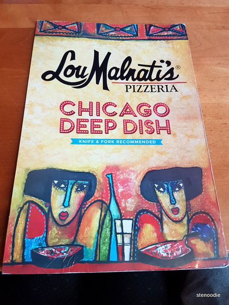 Lou Malnati's menu cover