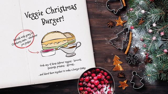 Veggie Christmas Burger