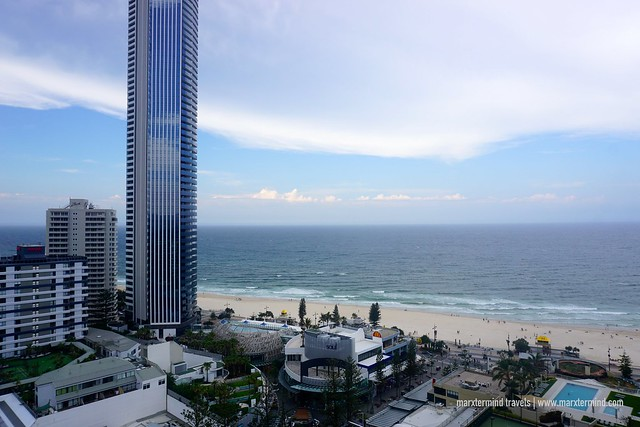 View from my Room at Novotel Surfers Paradise