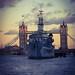 HMS Belfast at Sun set
